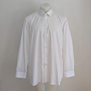 TED BAKER Endurance Dress Shirt, White, 17.5